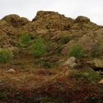 Saaren geologia oli ihmeellistä, ja moninaista. Tässä ollaan kuin Arizonassa.